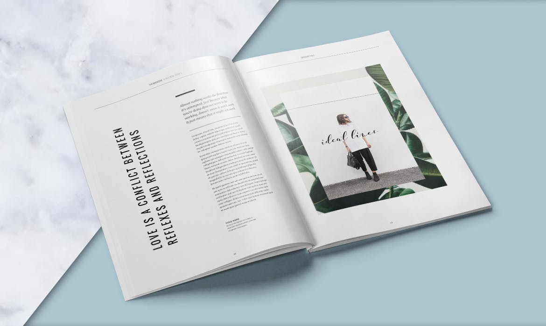 clean magazine design