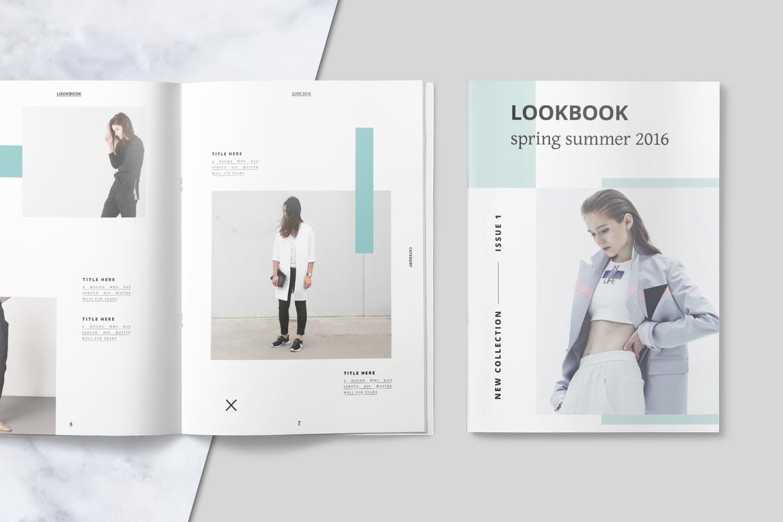 Modern lookbook template indd