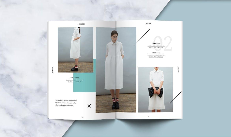 clean lookbook design