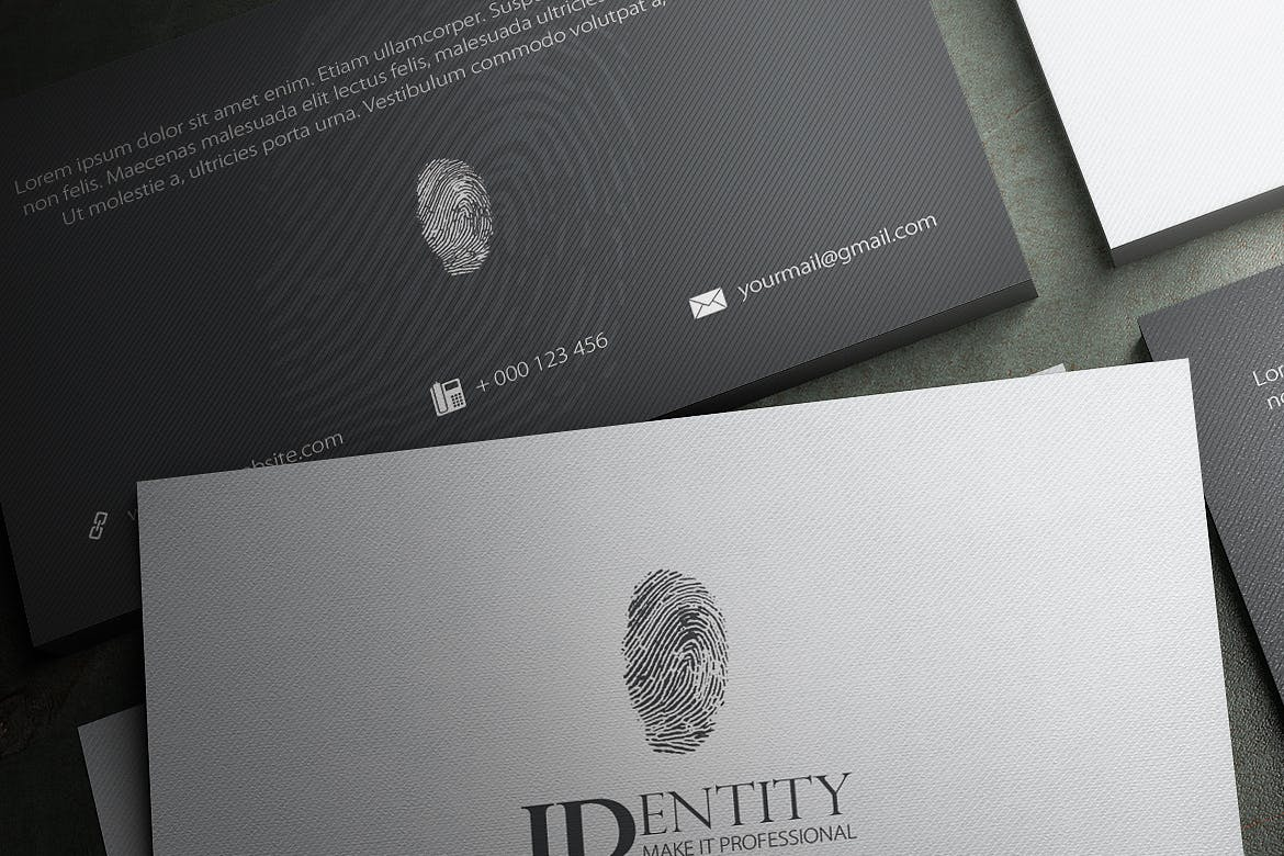 Identity business card - front and back
