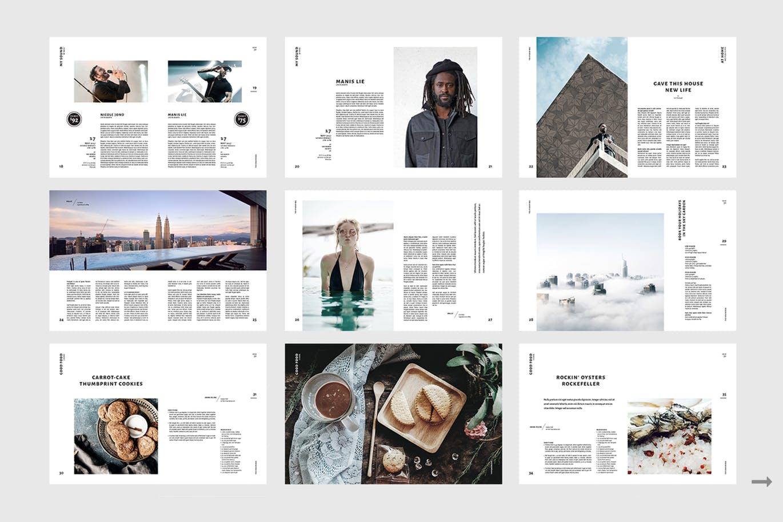 Modern magazine design