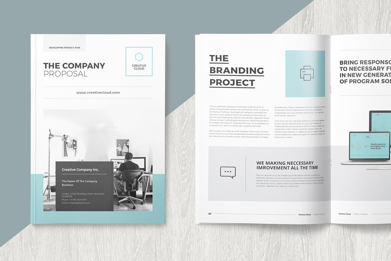 proposal template indesign