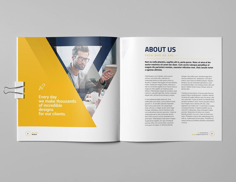 company square brochure template