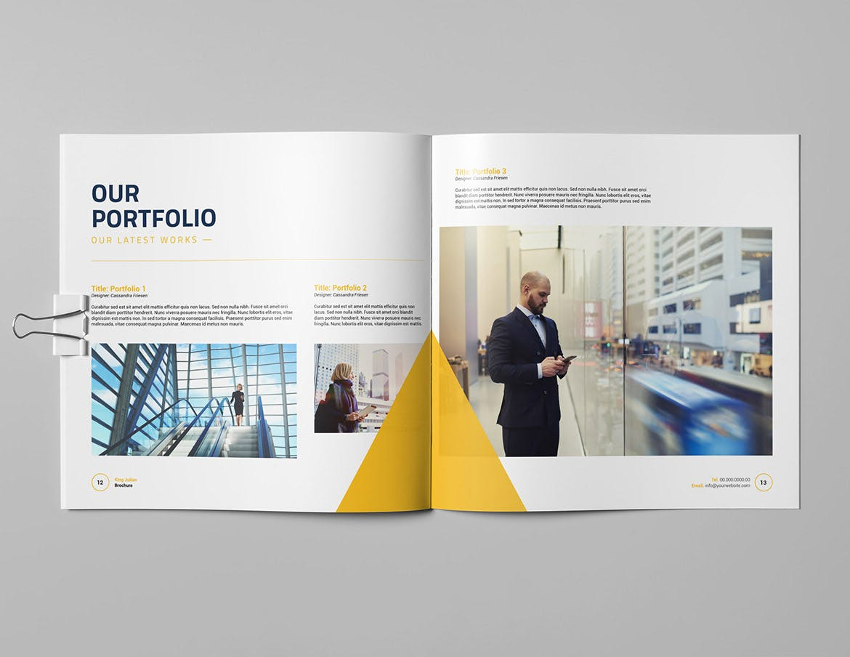 Business square brochure design