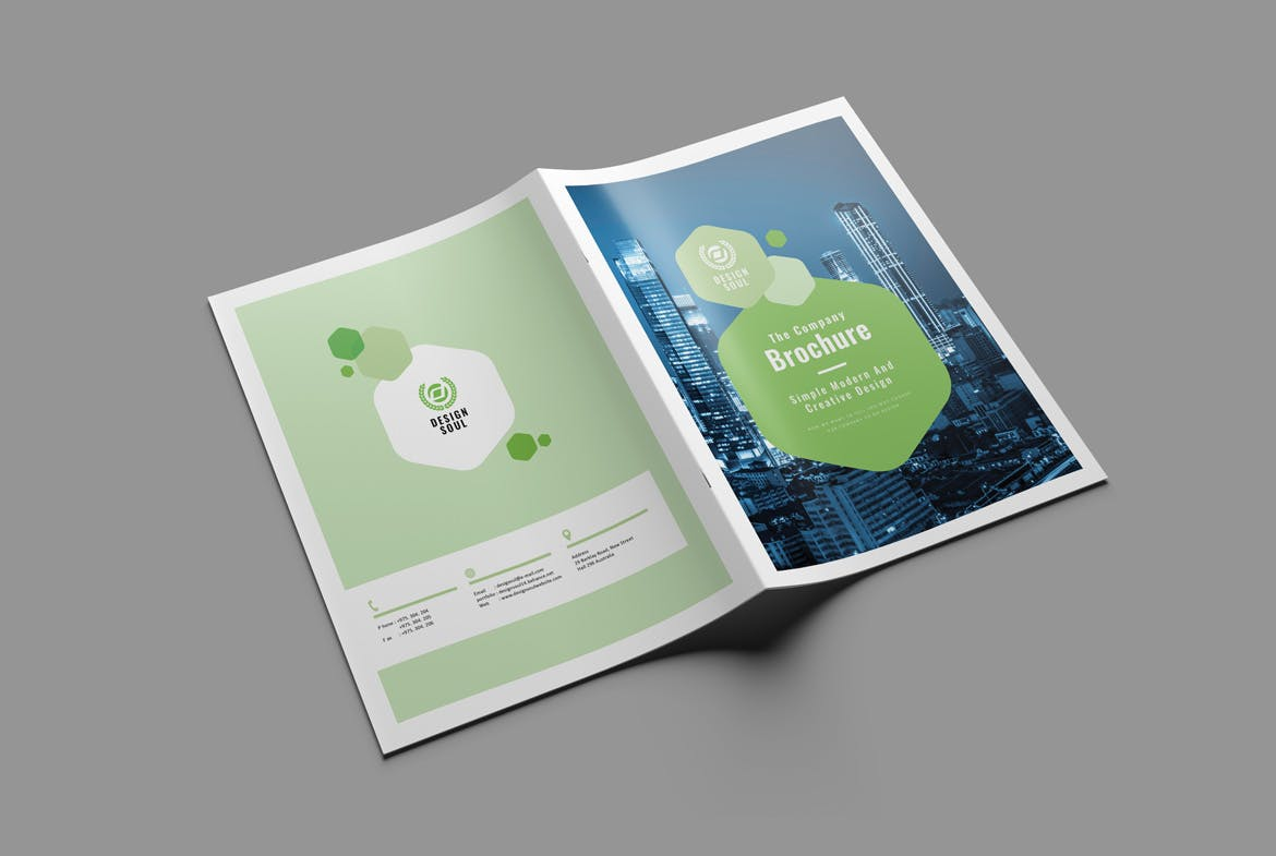 clean and creative brochure cover