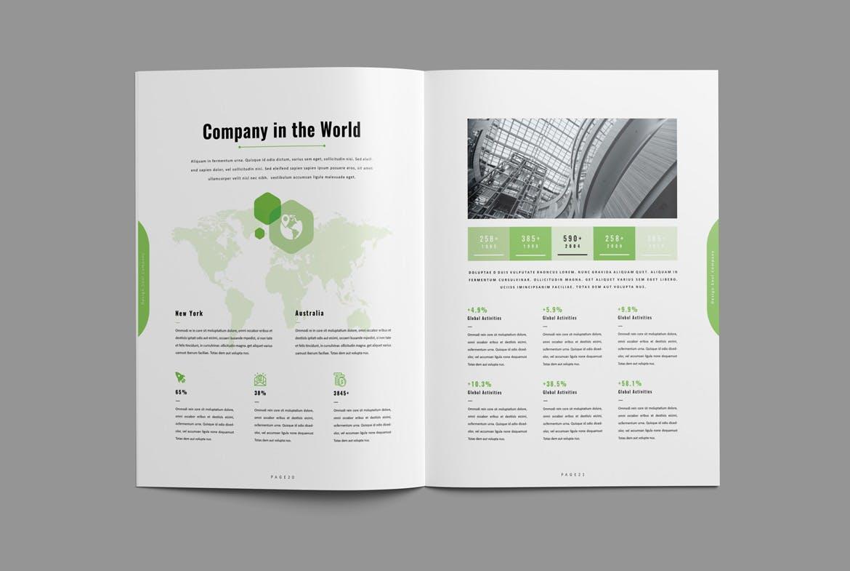 clean brochure design indesign