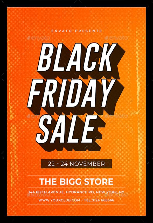 Black Friday flyer design