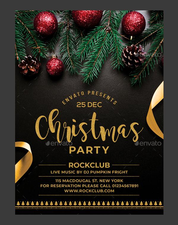 Christmas Party Flyer Design - Ksioks