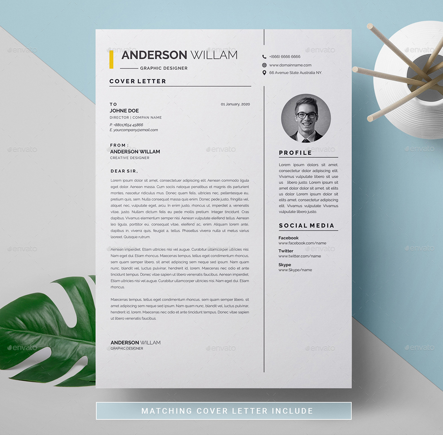 Resume And Letterhead Template Ksioks