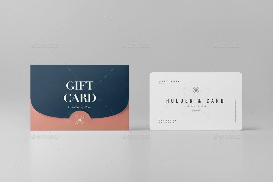 Holder & card mockup psd