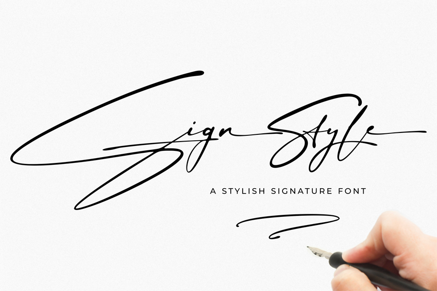Sign Style - Signature Font