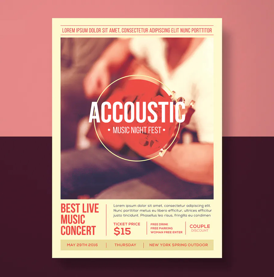Acoustic music flyer design