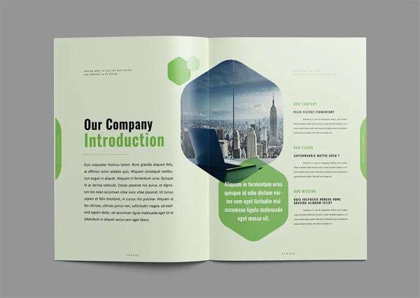 Clean and creative brochure template