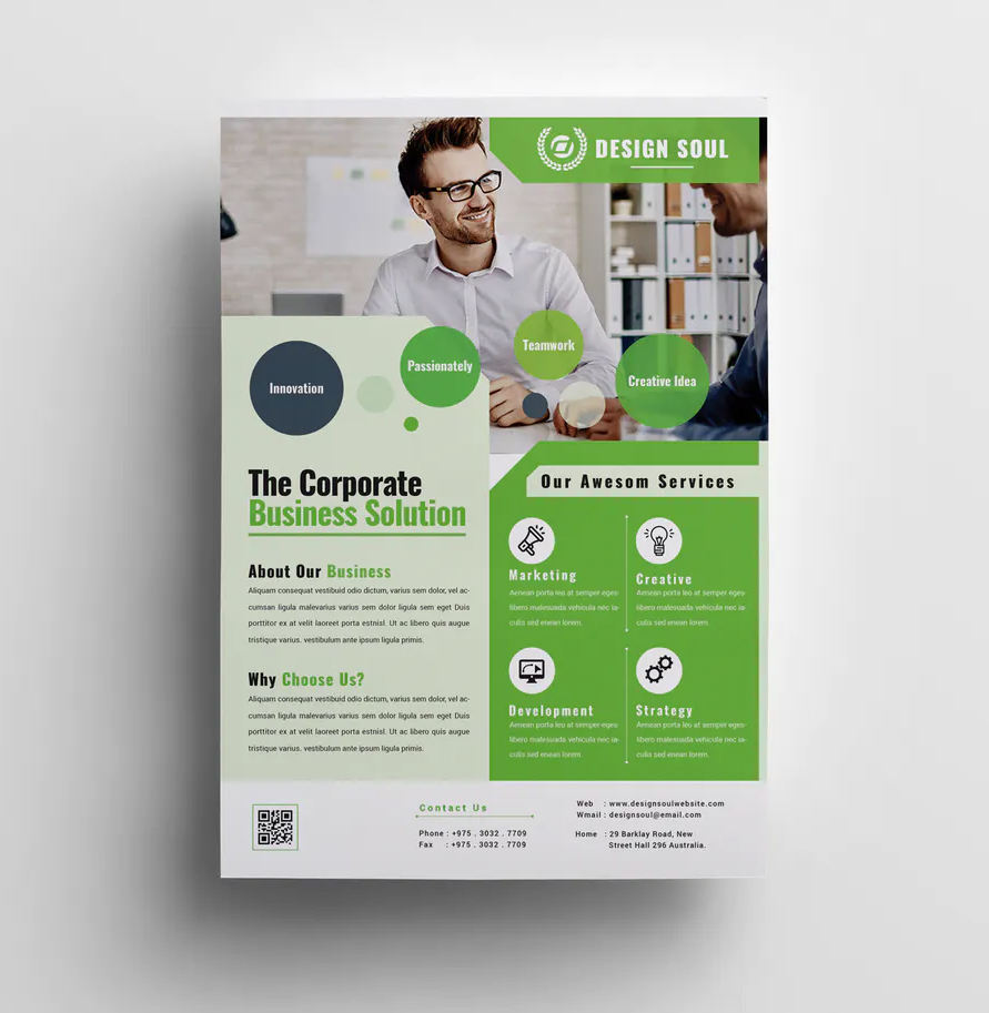 Corporate flyer psd