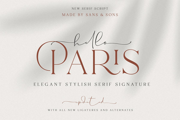 Hello Paris - Modern paired duo font