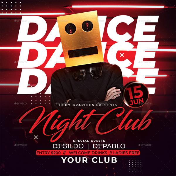 Nightclub dance flyer