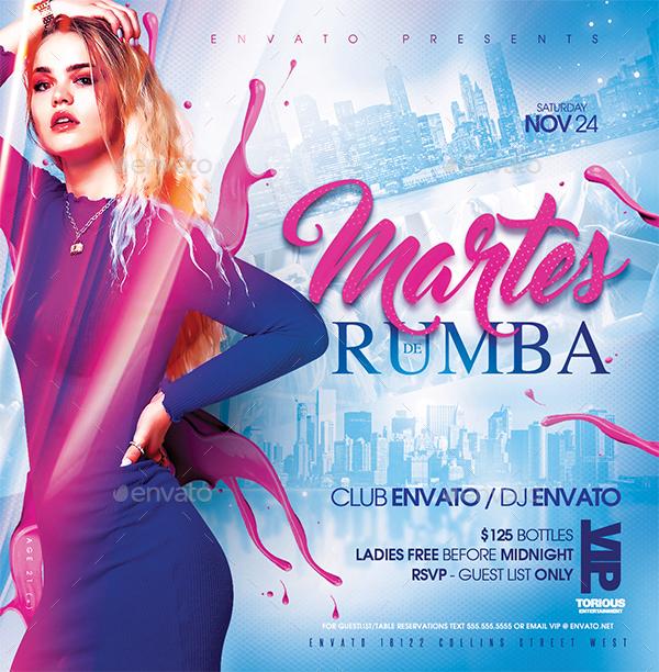 Nightclub party flyer design