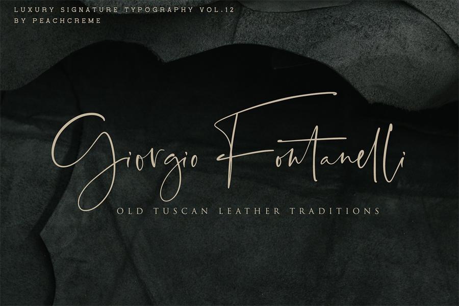 Santorini - Luxury signature font