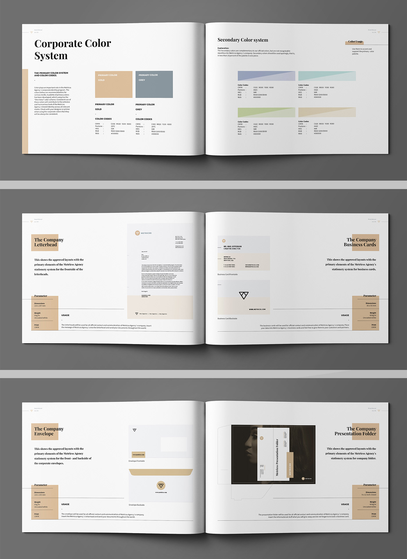 Brand Manual Brochure design