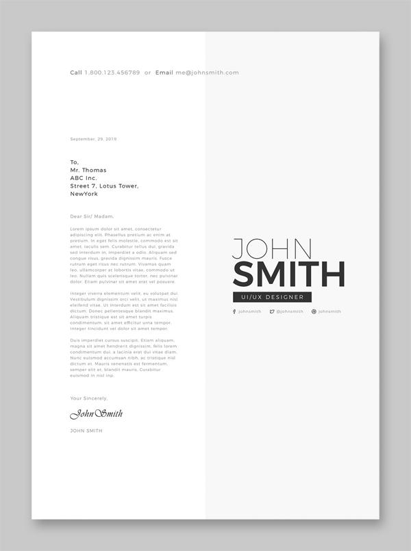 Clean resume template word