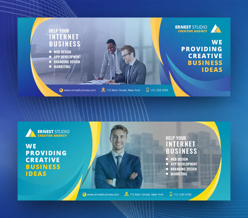 Creative and modern business Facebook cover design