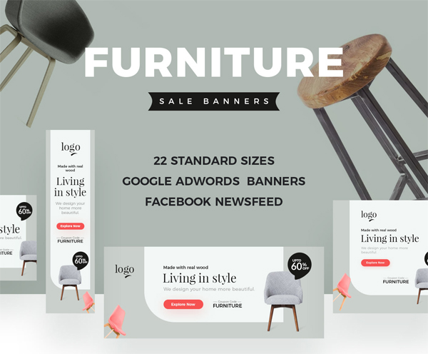 Furniture Sale Web Banner Templates