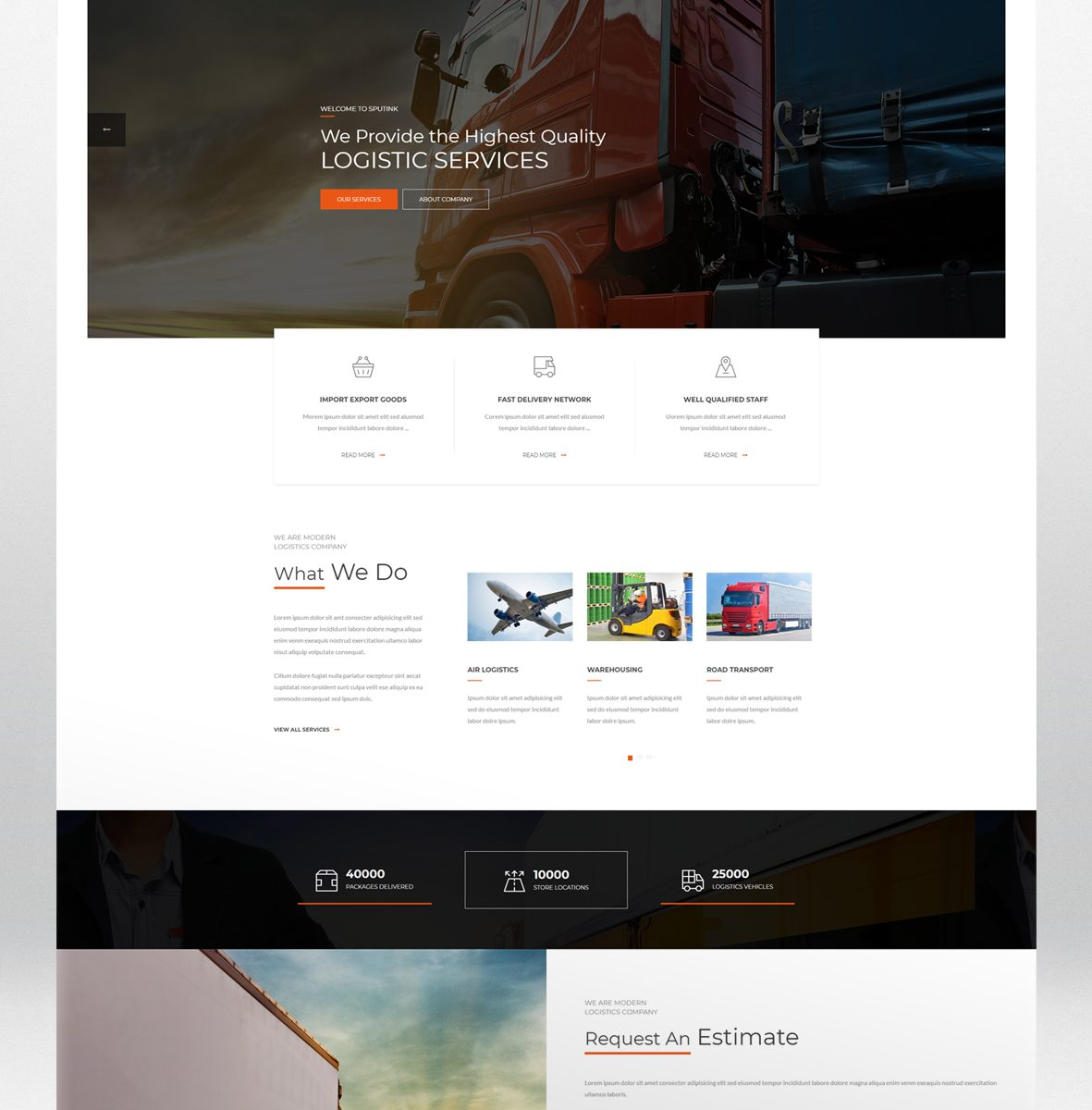 Logistics Center HTML Website Template