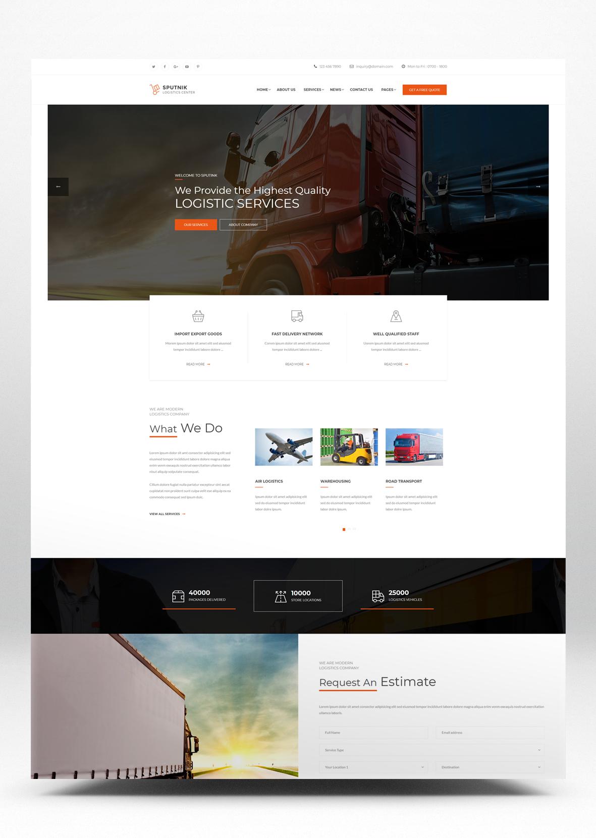 Logistics Center HTML Website Template