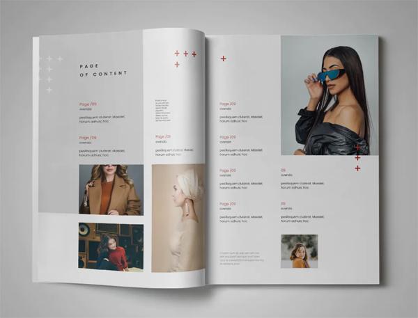Magazine design template