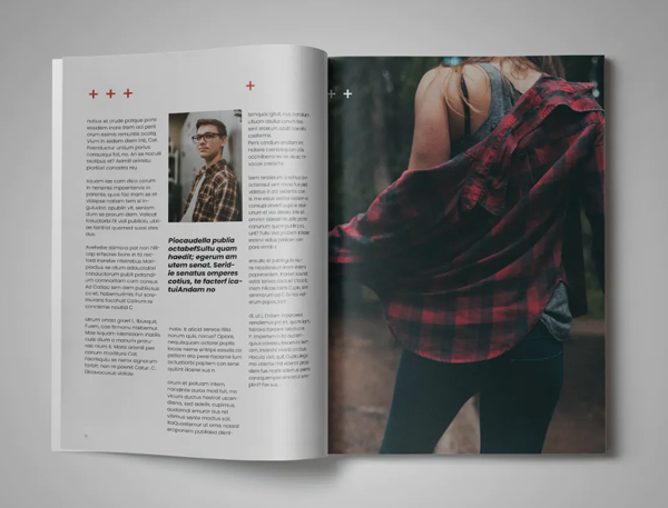 Magazine template indesign