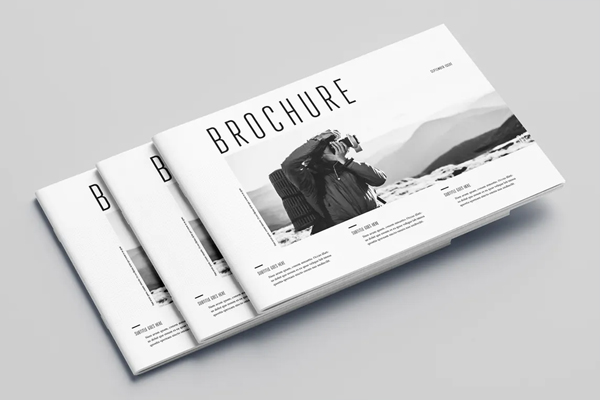 Minimal photography brochure cover template