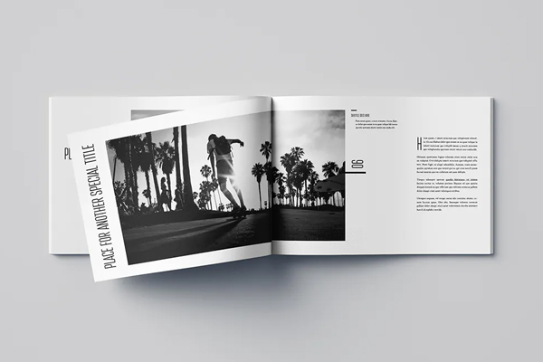 Horizontal photography brochure template