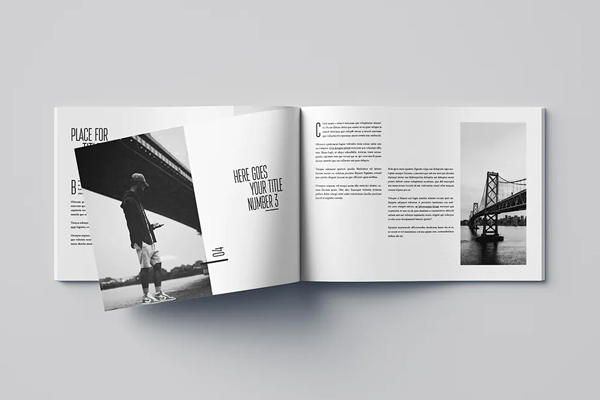Minimal photography brochure design