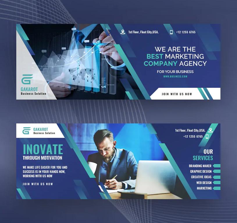 Modern business Facebook cover design