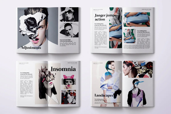 Photo magazine psd