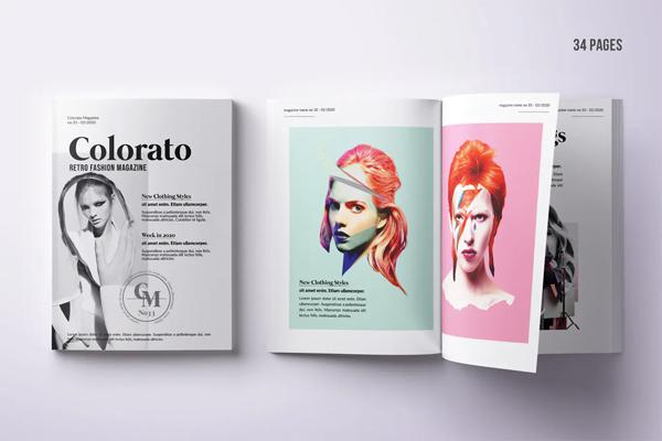 Photo magazine template