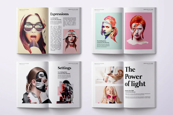 Photography magazine psd
