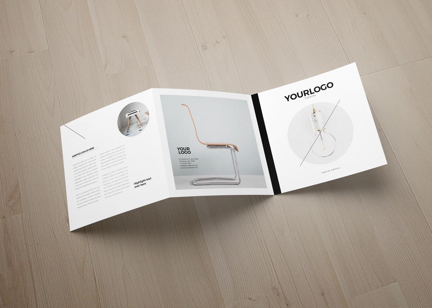 Square catalog brochure template