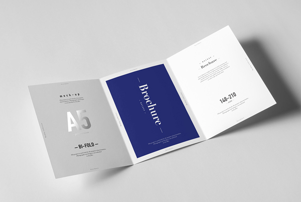 Trifold a5 brochure mockups