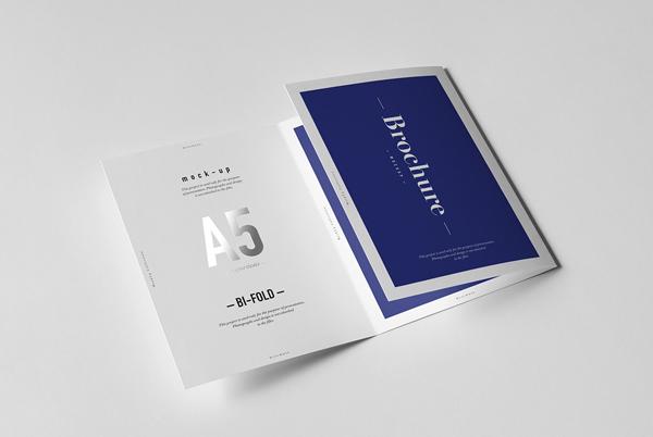 Tri-fold a5 brochure mockup