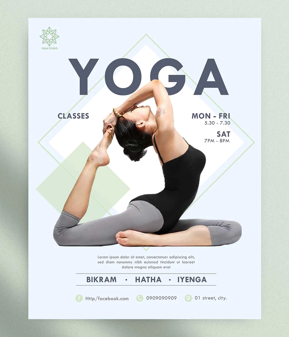 10 Yoga Flyer Templates Ksioks