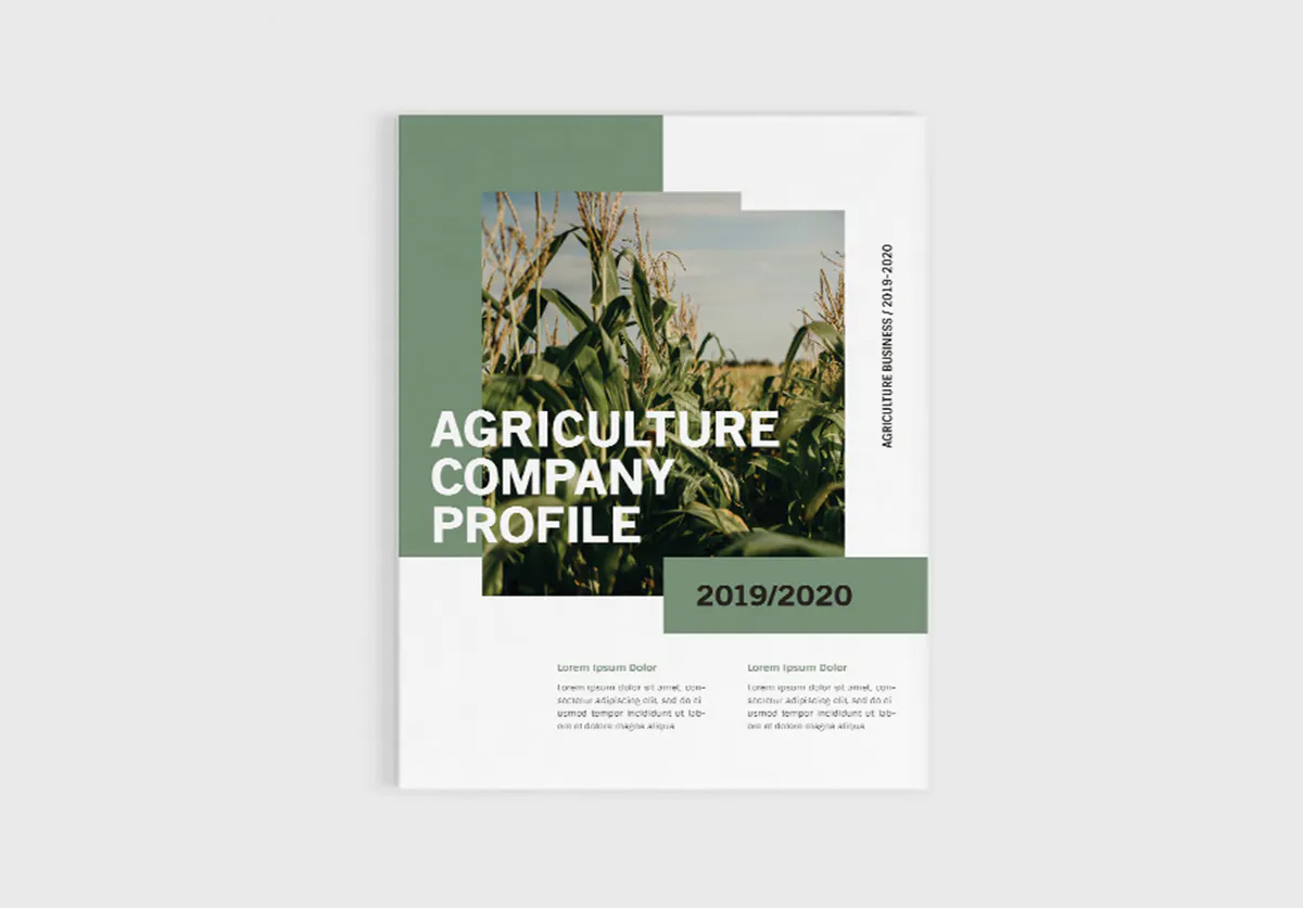 Agriculture company profile cover design