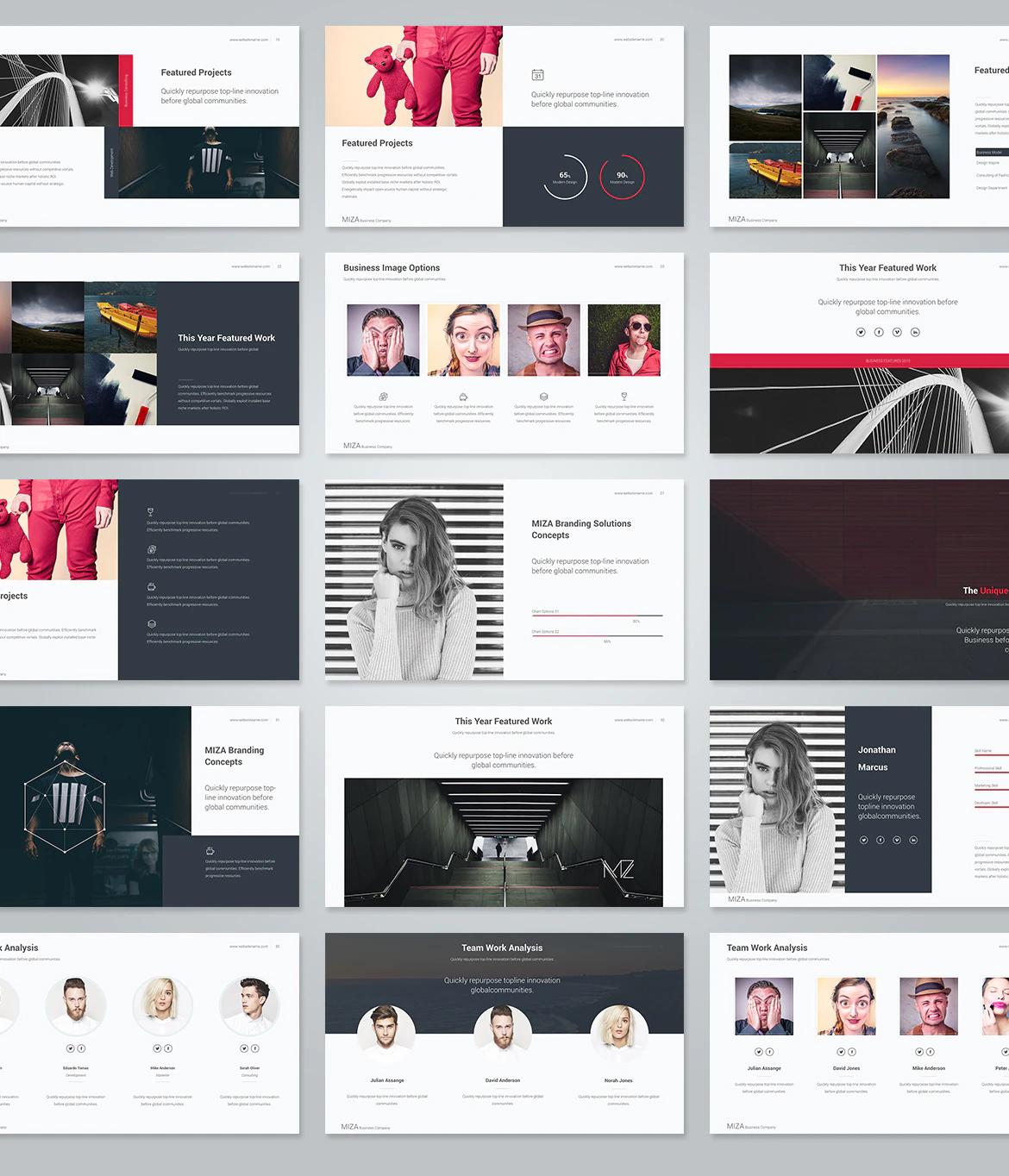 Business keynote design