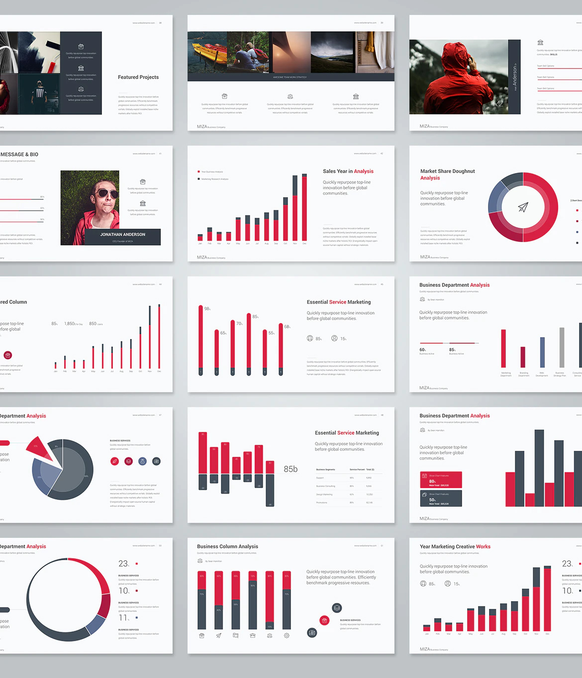 Business keynote presentation design