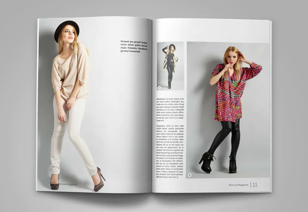 Catalog magazine template