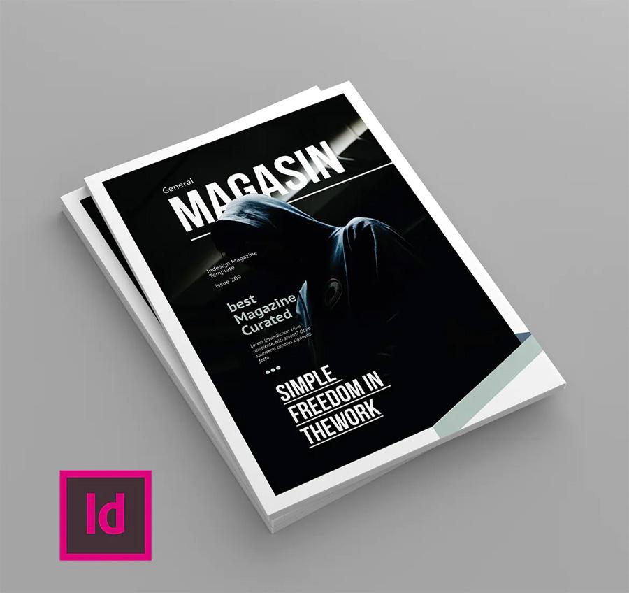 Creative magazine cover