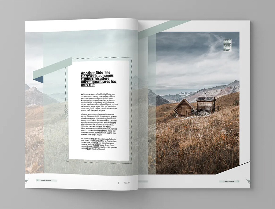 Creative magazine design