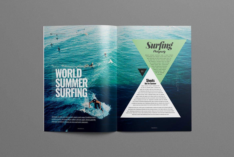 Photography magazine layout