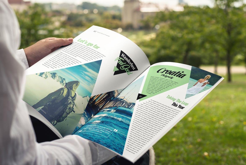Fashion magazine design template