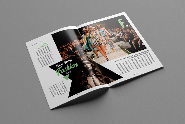 Fashion magazine layout indesign
